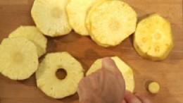 Ananas ausstechen Schritt 4