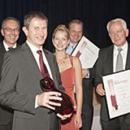 Strahlende Sieger beim Deutschen Rotweinpreis