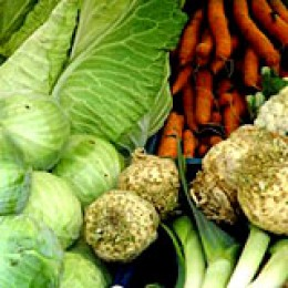 Gemüse frisch vom Markt.
