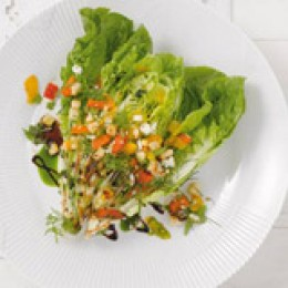 Römer Salat mit Basilikumöl