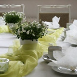 Blumen für die Frühlings Tischdeko