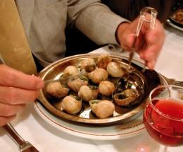 CShnecken gibt es in vielen Pariser Gourmetrestaurants