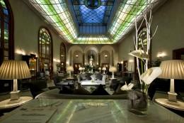 Die Lobby des Grandhotel de la Minerve