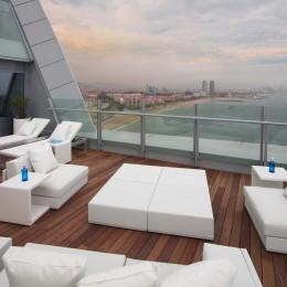 Vom Hotel W aus haben SIe einen tollen Blick über Barcelona