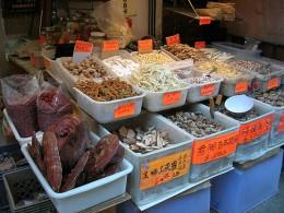 Exotische Lebensmittel in Chinatown