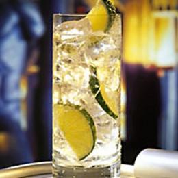 Gin Tonic mit viel Eis und Limetten