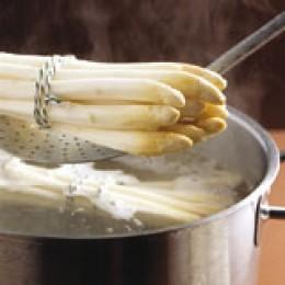 Frisch gekochter Spargel