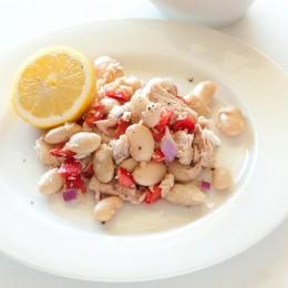 Limabohnen Salat