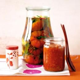 In Olivenöl eingelegte Tomaten