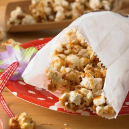 Karamell Mandel Popcorn
