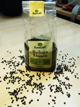 Abgepackte Belugalinsen