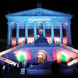 Zentrum der Veranstaltung: Die alte Nationalgalerie