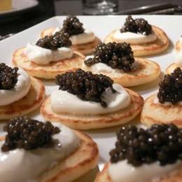 Dieses Jahr wieder: Kaviar auf Blinis