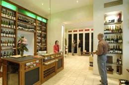 Verkausraum bei der Wein & Glas Compagnie