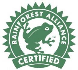 Der grüne Frosch von Rainforest Alliance.