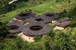 Die runden Tulou-Bauten in Fujian gehören zum UNESCO-Weltkulturerbe
