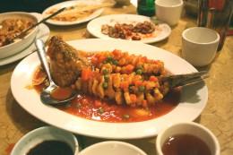 Bekanntes Gericht der Jiangsu Küche: Fisch in Eichhörnchen-Form