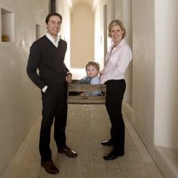 Carolin Spanier-Gilott mit ihrem Mann H.O. Spanier und dem älteren Sohn Louis