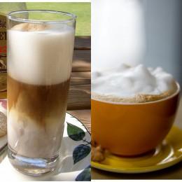 Genießen statt eines Latte Macchiatos besser einen fettarmen Cappuccino