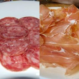 Statt Salami können Sie mageren Schinken auf ihr Brot legen