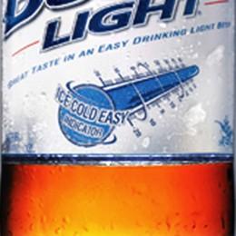 Ist das Bier kalt? Das blaue Label weiß es!
