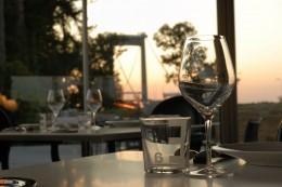 Gourmetküche mit Blick auf die Brücke: Restaurant Jean-Marie Amat