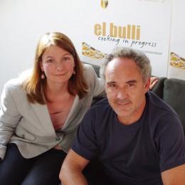 Ferran Adrià  mit essen-und-trinken.de-Redakteurin Philippa Schmidt