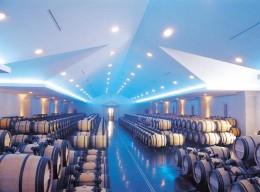 Lagerung der Weinfässer des Château Lascombes
