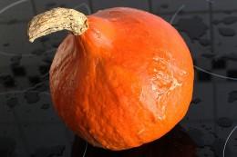 Orange und rund - Hokkaido-Kürbis