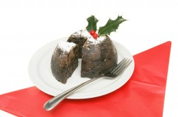 Dekorierter Christmas Pudding