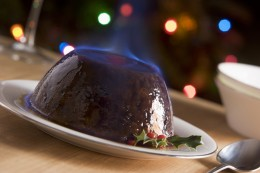 Flambierter Christmas Pudding