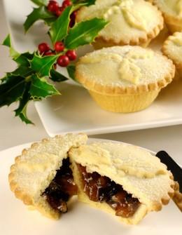 Mince Pie enthält eine Mischung aus getrockneten Früchten
