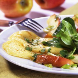Karamelläpfel mit Allgäuer Bergkäse-Gratin