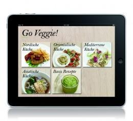 Die Rezept-Kapitel der Veggie-App.