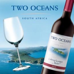 Rotwein des südafrikanischen Weingutes Two Oceans