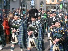 Traditionell irische Musik bei der Münchener St. Patrick's Day-Parade
