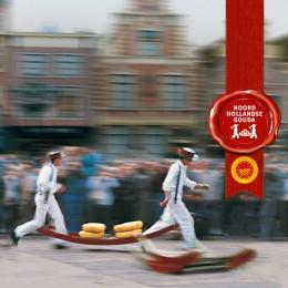 Noord Hollander Premium-Gouda. Ausgezeichnet mit dem roten EU-Siegel.