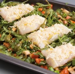 AEG Dampfgaren Fisch auf Gemüse