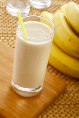 Bananen-Milchshake - ein leckeres Sportgetränk