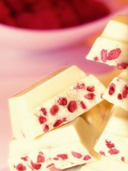 Schokolade mit Fruchtstückchen sind der Renner