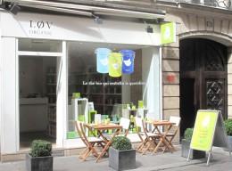 Tee auf der Terrasse: Løv Organic in Paris