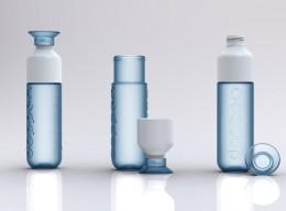 Die grüne Wasserflasche zum Mitnhemen