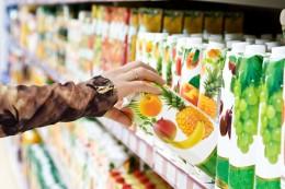 Getränkeauswahl im Supermarkt