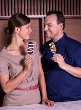 Neue Eiskreationen von Jessica Schwarz und Tim Raue