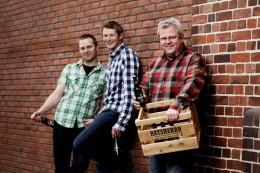 Das Ratsherrn-Brauteam (v.l.): Nils Timmann, Philip Bollhorn und Thomas Kunst
