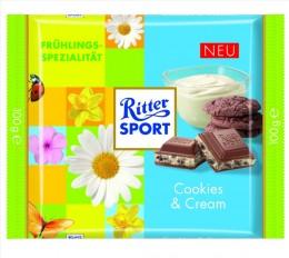 Ritter Sport Schokolade Frühling 2013 Cookies und Cream