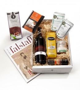 Die Gourmetbox ist gefüllt mit leckeren Produkten
