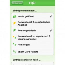 Restaurantfinder VEBU-App