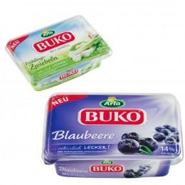 Arla Buko Frischkäse Blaubeere und Frühlingszwiebel