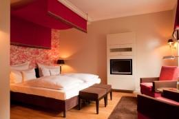 Eins der Doppelzimmer im Hotel Kieler Kaufmann
